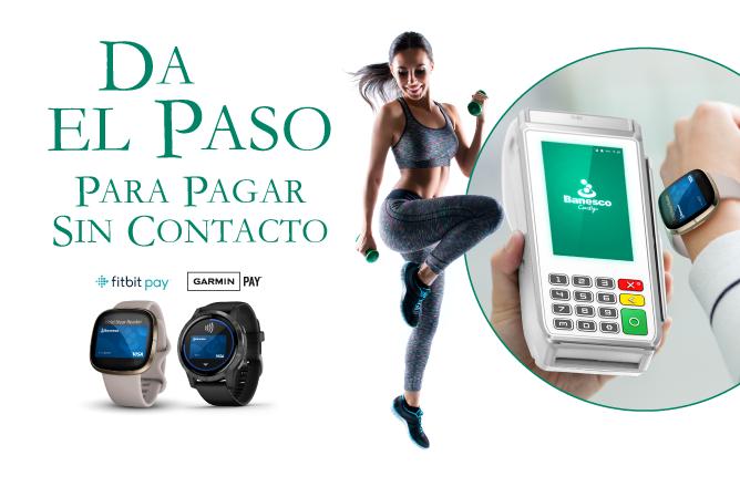 Fitbit Garmin Visa Banesco Panama